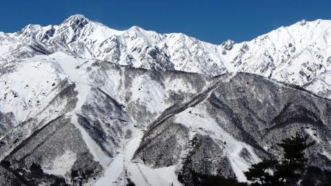 五竜岳、ゲレンデ