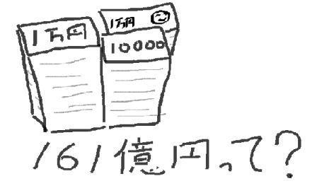161億円絵小さく圧縮