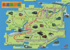 JR九州管内の路線図