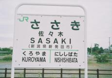 旧デザインの駅名標