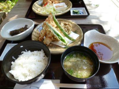 まいたけの天ぷら定食
