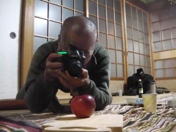 木村さんのリンゴ撮影