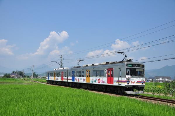 2012年7月28日 上田電鉄別所線 中塩田~下之郷 1000系1002F