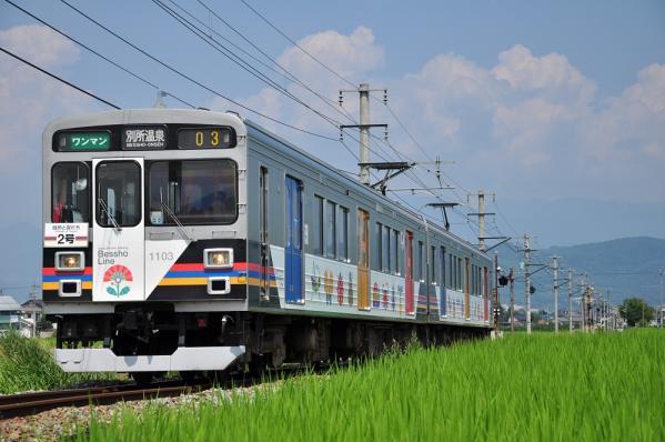 2012年7月28日 上田電鉄別所線 舞田~八木沢 1000系1003F