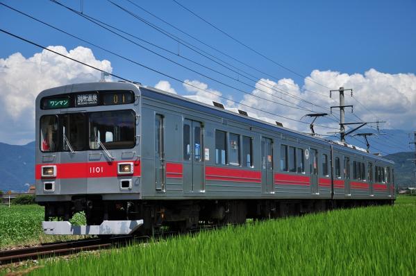 2012年8月5日 上田電鉄別所線 舞田~八木沢 1000系1001F