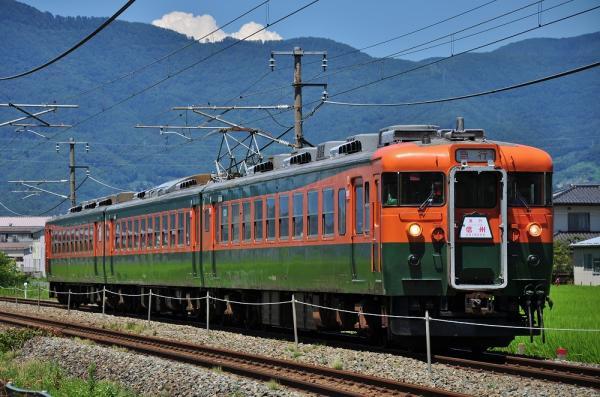 2012年8月5日 しなの鉄道 テクノさかき~西上田 169系S52編成 急行 リバイバル信州