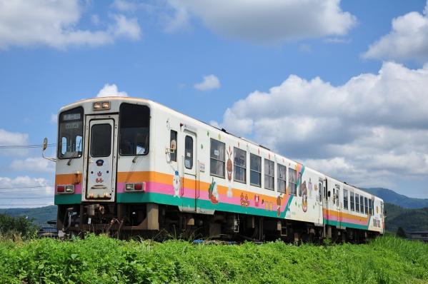 2012年8月9日 山形鉄道フラワー長井線 荒砥~四季の郷 YR880形YR883+YR886