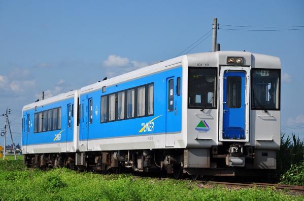 2012年8月9日 JR東日本左沢線 羽前金沢~羽前山辺 キハ101形キハ101-10+2