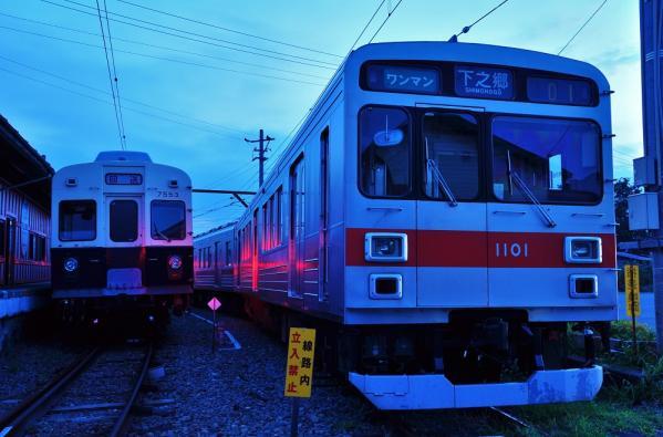 2012年8月12日 上田電鉄別所線 下之郷 7200系7253F・1000系1001F