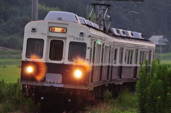 2012年8月12日 上田電鉄別所線 八木沢~別所温泉 7200系7253F