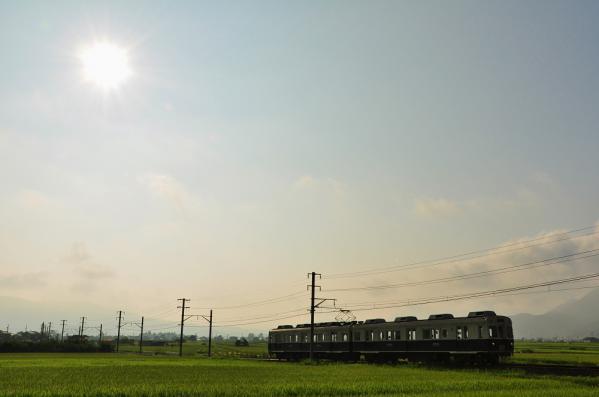 2012年8月12日 上田電鉄別所線 中野~舞田 7200系7253F