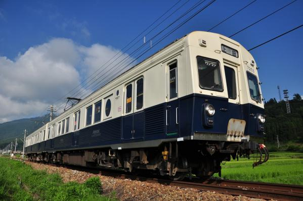 2012年8月12日 上田電鉄別所線 別所温泉~八木沢 7200系7253F