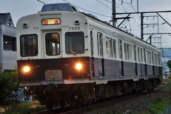 2012年8月18日 上田電鉄別所線 塩田町~中野 7200系7255F