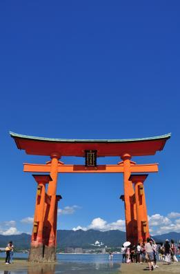 2012年8月25日 厳島神社 大鳥居