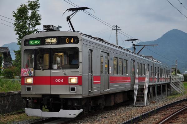 2012年8月30日 上田電鉄別所線 下之郷 1000系1004F