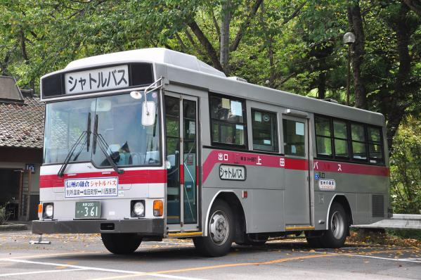 2012年8月30日 上田バス 信州の鎌倉シャトルバス 別所温泉 H-897号車