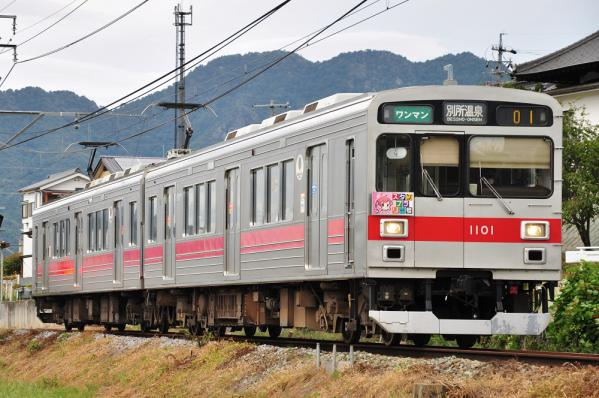2012年9月18日 上田電鉄別所線 寺下~神畑 1000系1001F