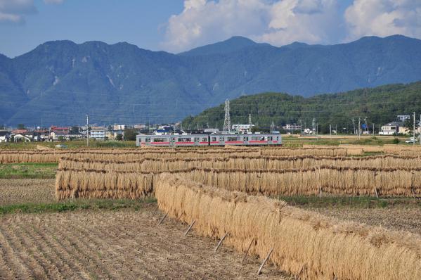 2012年10月9日 上田電鉄別所線 中塩田~下之郷 1000系1001F
