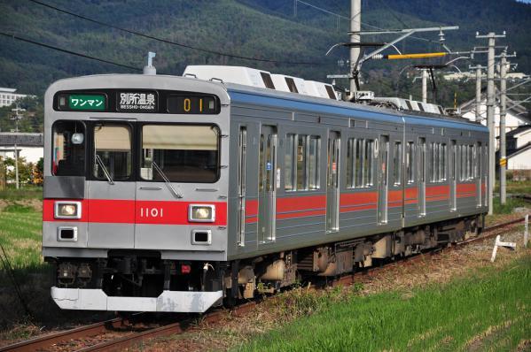 2012年10月9日 上田電鉄別所線 下之郷~中塩田 1000系1001F