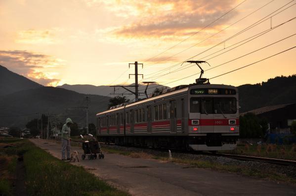 2012年10月9日 上田電鉄別所線 舞田~八木沢 1000系1001F