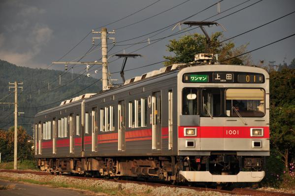 2012年10月9日 上田電鉄別所線 八木沢~舞田 1000系1001F
