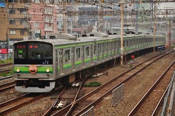 2012年10月14日 JR東海道線 川崎~横浜 205系H25編成 鉄道開業記念号