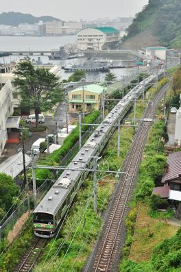 2012年10月14日 JR横須賀線 田浦~横須賀 205系H25編成 鉄道開業記念号