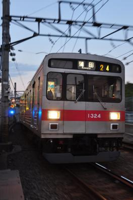 2012年10月26日 東急多摩川線 多摩川~沼部 1000系1024F