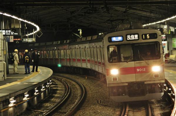 2012年11月7日 東急東横線 白楽 9000系9012F