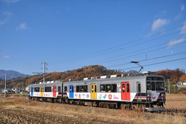 2012年11月19日 上田電鉄別所線 八木沢~舞田 1000系1003F