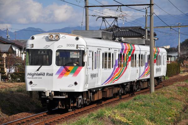 2012年11月24日 アルピコ交通上高地線 淵東~新島々 3000系3005-3006