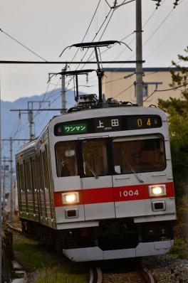 2012年12月5日 上田電鉄別所線 赤坂上~三好町 1000系1004F