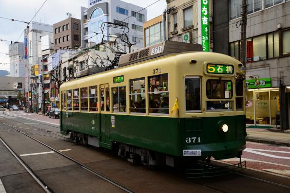 2012年12月11日 長崎電気軌道本線 5号系統 築町 370形371号