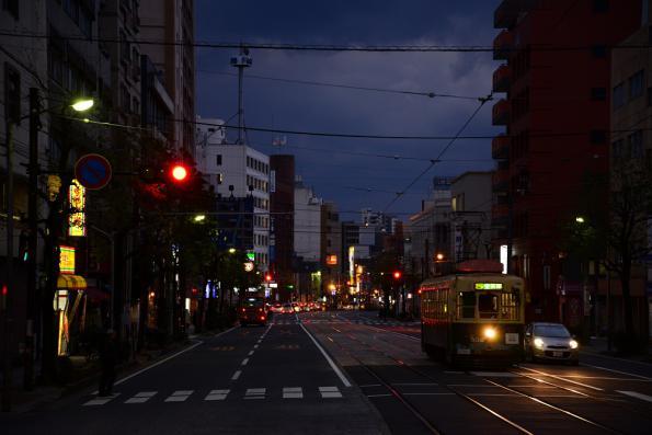 2012年12月11日 長崎電気軌道蛍茶屋支線 5号系統 公会堂前 300形302号