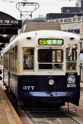 2012年12月11日 長崎電気軌道蛍茶屋支線 5号系統 公会堂前 370形377号