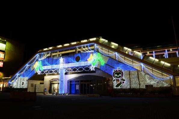 2012年12月20日 長野駅善光寺口 アルクマライトアップ