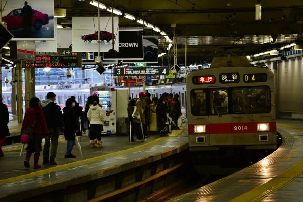 2012年12月30日 東急東横線 渋谷 9000系9014F