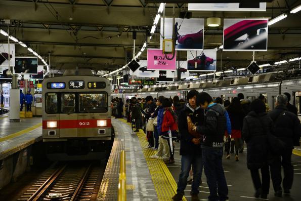 2012年12月30日 東急東横線 渋谷 9000系9012F