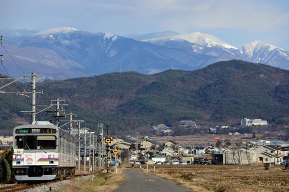 2013年1月2日 上田電鉄別所線 舞田~八木沢 1000系1002F