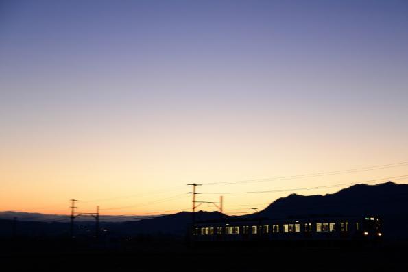 2013年1月7日 上田電鉄別所線 中野~舞田 1000系1003F
