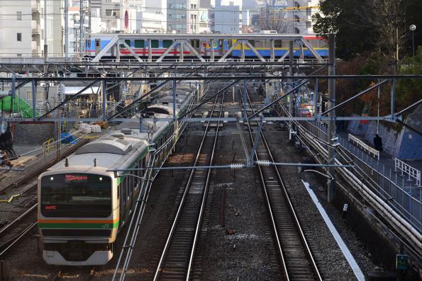 2013年1月9日 東急東横線 代官山〜渋谷 7500系7500F+7200系サヤ7590