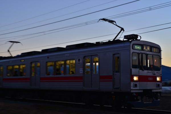 2014年1月15日 上田電鉄別所線 神畑~寺下 1000系1001F