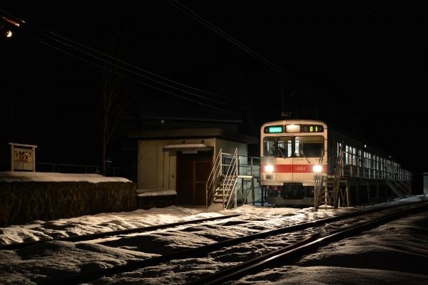 2014年2月10日 上田電鉄別所線 下之郷 1000系1001F