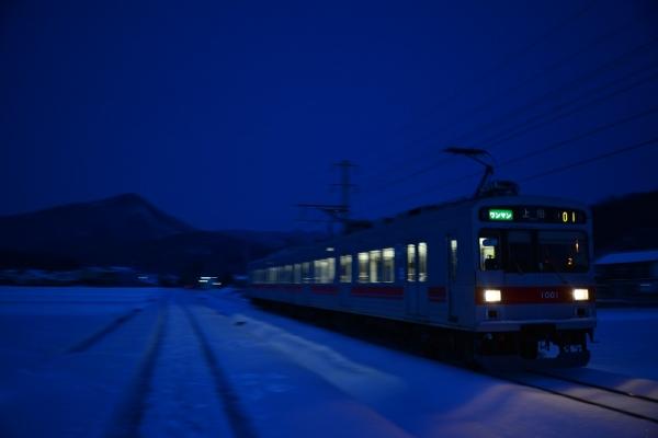 2014年2月10日 上田電鉄別所線 八木沢~舞田 1000系1001F