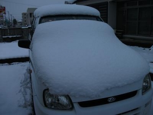 141203車の上に雪