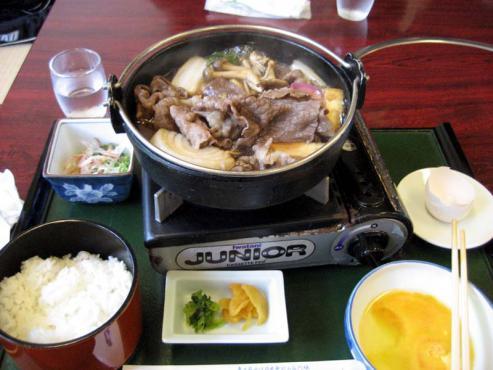 すき焼き(煮え)