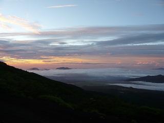 富士山5合目から見た朝焼け