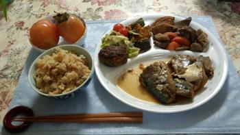 晩御飯 鯖の煮付け他