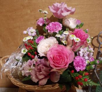 お花とお菓子のセット