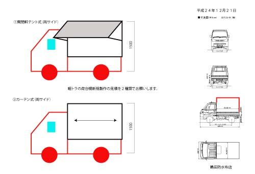軽トラ幌提案